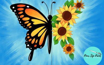 Pour, Sip, Paint: Butterfly in Bloom (Kiddo & Me)